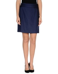 Fabrizio Lenzi Knee Length Skirts Dark Blue