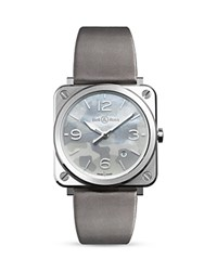 Bell And Ross Br S Grey Camouflage Watch 39Mm White Gray