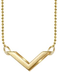 Alex Woo V Pendant Necklace In 14K Gold Yellow Gold