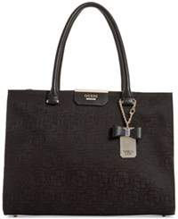 Guess Ryann Society Large Satchel Black