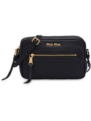 Miu Miu Leather Shoulder Bag Black