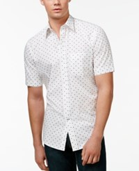 Club Room Big And Tall Captain Print Shirt Only At Macy's Bright White