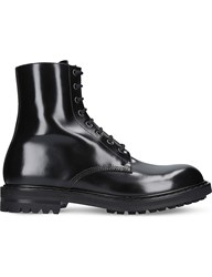 Alexander Mcqueen Military Leather Boots Black
