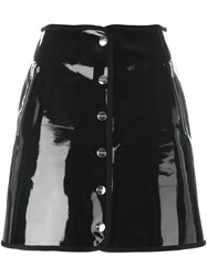Iceberg Front Button A Line Skirt Black