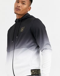 Sik Silk Siksilk Zip Thru Hoodie In Faded Black Navy