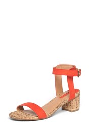 Dorothy Perkins Red 'Social' Cork Heel Sandals