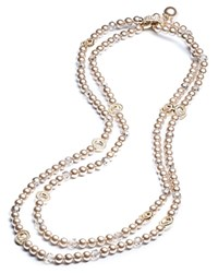 Carolee Convertible Double Strand Necklace 60 Pearl