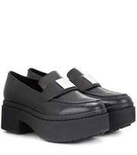 Opening Ceremony Agness Platform Leather Loafers Black