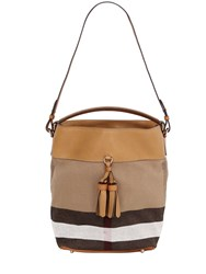 Burberry Medium Susanna House Check Bucket Bag