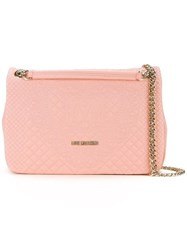 Love Moschino Embossed Shoulder Bag Pink Purple