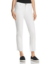 Aqua Cropped Scallop Hem Jeans In White 100 Exclusive