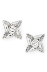 Ted Baker Women's London Kinna Enamel Stud Earrings Silver