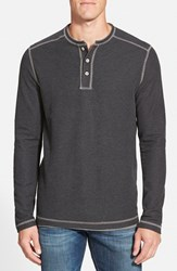 Men's Tommy Bahama 'Grand Thermal' Long Sleeve Henley Black Heather