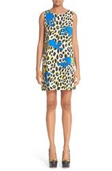 Moschino Women's Leopard Print Satin Shift Dress