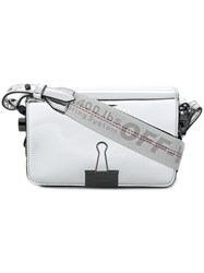 Off White Mirror Mini Flap Bag Metallic