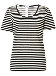 Akris Punto Striped T Shirt Black