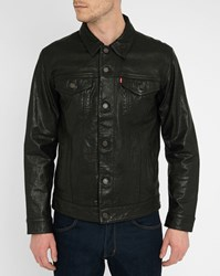 Levi's Black Leather Trucker Jacket