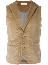 Al Duca D'aosta 1902 Fitted Buttoned Waistcoat Brown