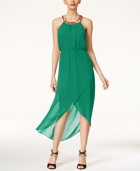Thalia Sodi Embellished High Low Maxi Dress Only At Macy's Aruba Blue