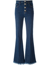 Sonia Rykiel Frayed Ends Bootcut Jeans Blue