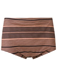 Amir Slama Striped Trunks Black