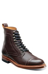Stacy Adams Men's Madison Ii Cap Toe Boot Oxblood Milled