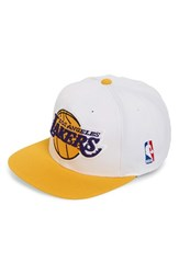 Men's Mitchell And Ness 'Los Angeles Lakers Xl Logo' Snapback Cap