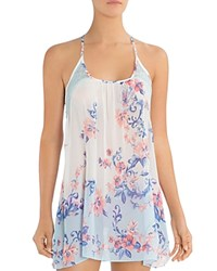 Jonquil In Bloom By Chiffon Chemise Aqua Ivory