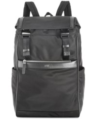Hugo Boss Men's Leather Trim Backpack Black