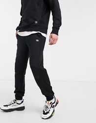 Russell Athletic Ernie Cuffed Joggers In Black