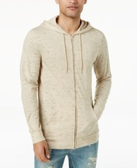 American Rag Men's Nep Full Zip Lightweight Hoodie Created For Macy's Light Champagne
