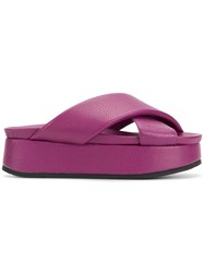 Peter Non Cruz Sandals Pink And Purple