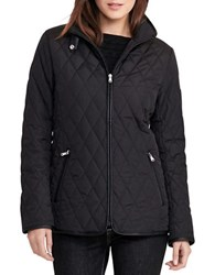 Lauren Ralph Lauren Petite Solid Diamond Quilted Jacket Black