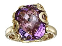 Miseno Sea Leaf Amethyst Ring Yellow Gold Ring