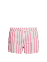 Bower Swag Striped Swim Shorts Pink Stripe