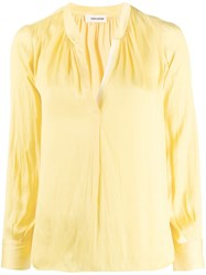 Zadig And Voltaire Tink Satin Shirt Yellow