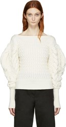 Christophe Lemaire Ivory Cable Knit Sweater