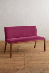 Anthropologie Velvet Emrys Bench Pink