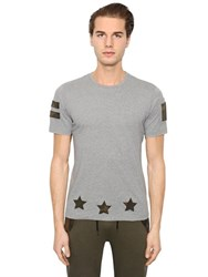 Hydrogen Military Hockey Patches Cotton T Shirt