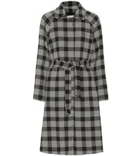 Red Valentino Checked Cotton Blend Coat Black