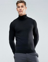 Celio Roll Neck Jumper In Black