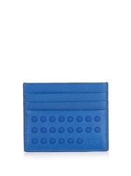 Tod's Gommini Leather Cardholder Blue