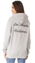 Rodarte Los Angeles Oversized Embroidery Hoodie Grey Black