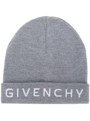 Givenchy Embroidered Logo Beanie Grey