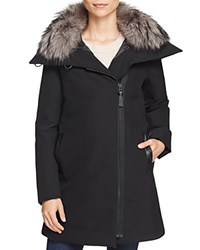 Derek Lam 10 Crosby Fur Collar A Line Parka Black