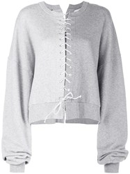 Unravel Project Tie Fastened Sweater Grey