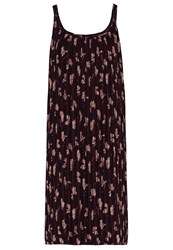 Opus Wateka Summer Dress Dark Port Bordeaux