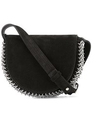 Paco Rabanne Embellished Loops Shoulder Bag Black