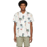 Paul Smith Ps By White Palm Tree Short Sleeve Shirt