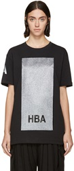 Hood By Air Black And Silver Glitter Box T Shirt